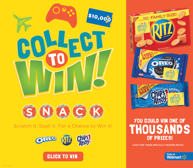 Collect to win, easy snack ideas