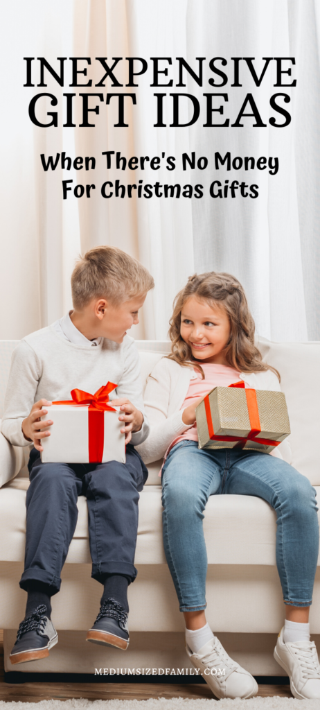 These inexpensive Christmas gifts are a great way to celebrate Christmas on a budget. Even if there's no money for Christmas gifts, you can still give them something to unwrap!