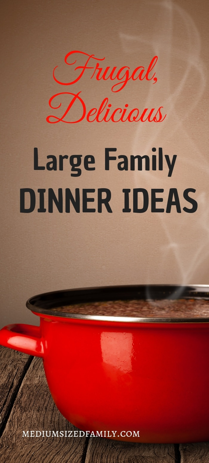 These Grandma approved large family dinner ideas are the perfect comfort foods for feeding a crowd!