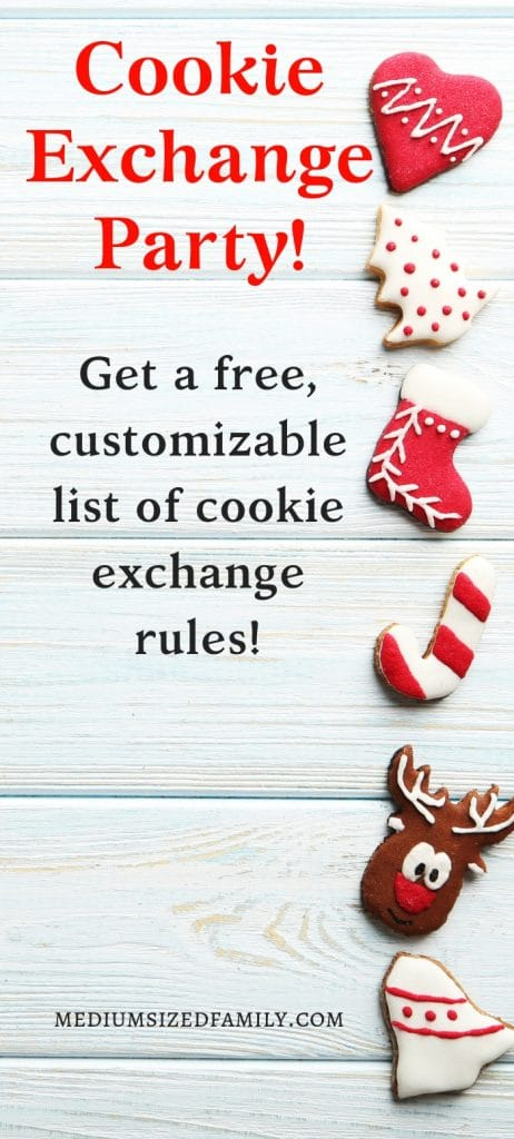 These ideas for hosting a Christmas cookie exchange party make it easy! You'll love the free printable of cookie exchange rules! (Totally customizable!)