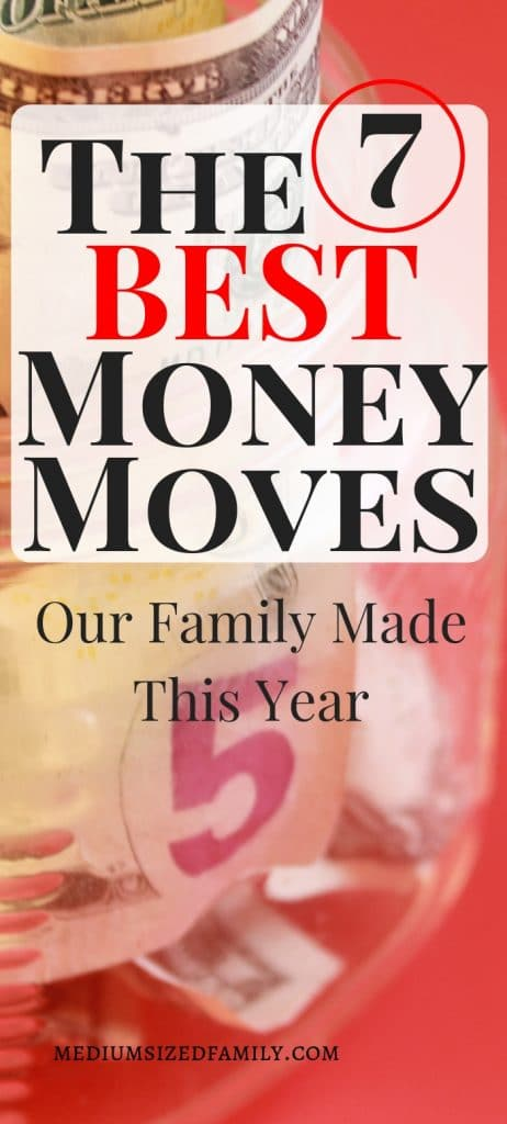 Saving money means making small steps every day to add up to big savings! Here are the best 7 ways we saved money this year.