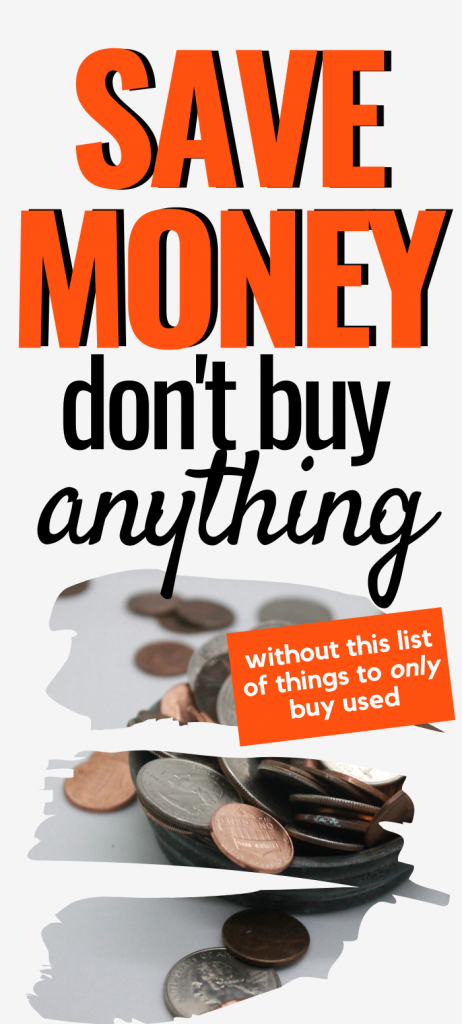 One of the best save money tips is to buy used. There are millions of bargains out there. Even if you're on a budget, you can get good name brand clothes and items at thrift shops and other ways for buying used items.