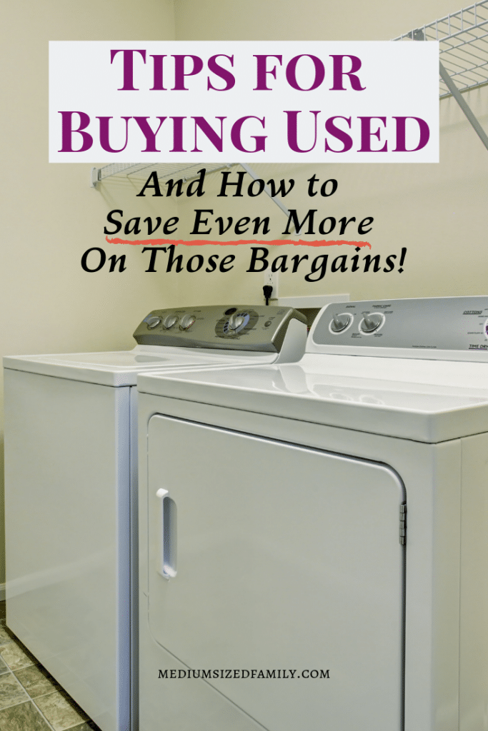 Buy used!  These tips will show you how  you can save money around the home by buying used items whenever possible. And you'll learn how to get an even better bargain than you'd expect!