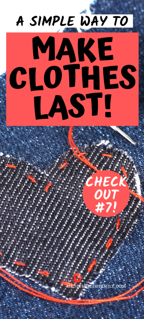 Looking for cheap clothes hacks? This is the best way to make your clothes last...especially if you have kids or love to shop the thrift stores! These frugal tips will make your old clothing more adorable than ever!