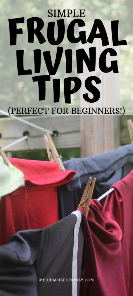 These simple frugal living tips are perfect for beginners or anyone who can't get enough frugal living ideas!