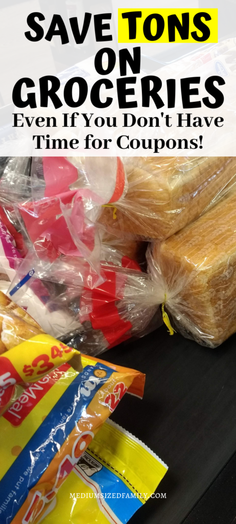 Learn how to save on groceries without spending hours cutting coupons. These tips will cut your grocery budget down in no time!