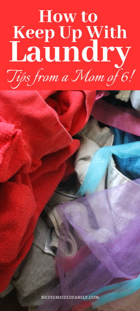 Learn how to keep up with laundry from a mom of 6!!