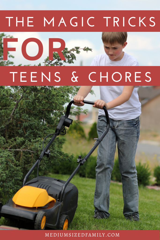 Looking for chores for teens? If your teenagers won't do chores or help around the house you may be looking for a punishment. But maybe what you really need are the right tricks to getting them to pitch in around the house. Try these ideas from a mom who knows.