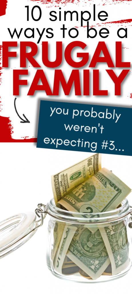 Money saving tips for families. Ideas to live on a budget and be more frugal families. Frugal living tips and help so you have extra cash and can save money to stay at home mom.
