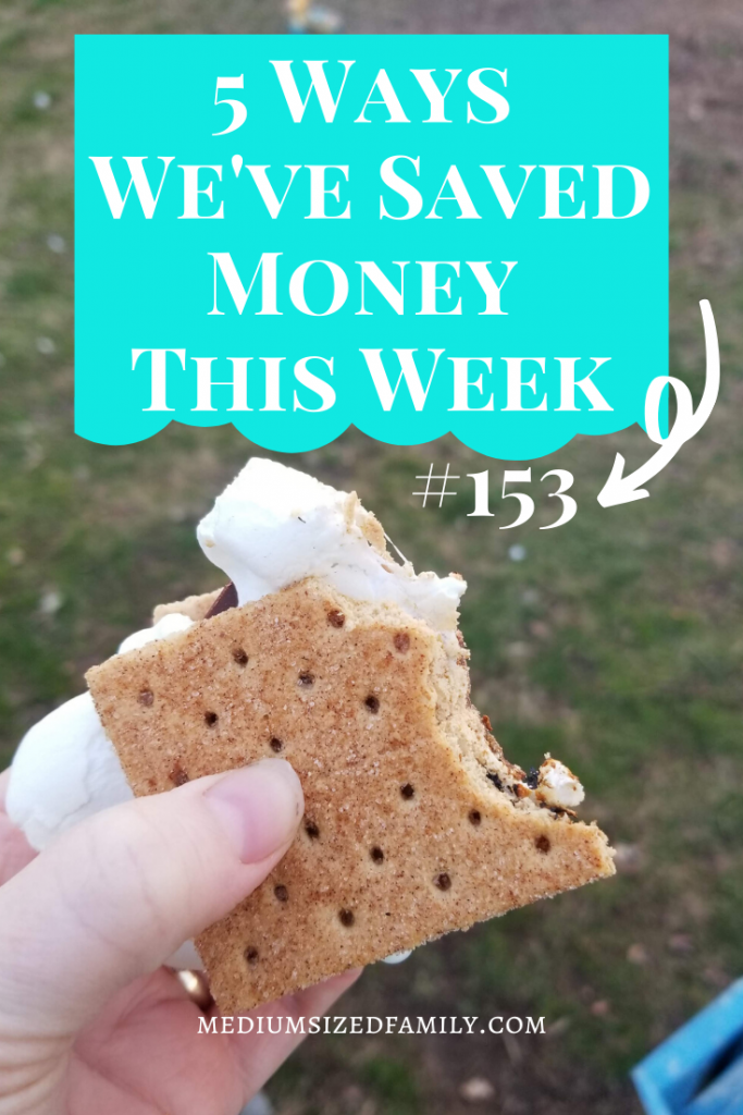 The 5 ways we've saved money this week series continues with money saving tips and ideas from a frugal family of 8.