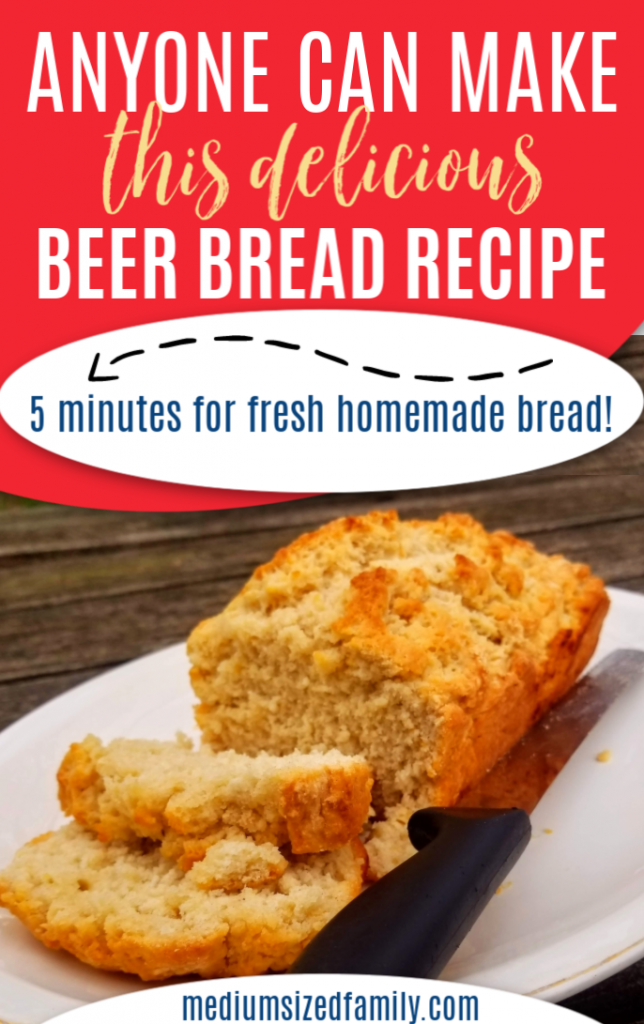 beer bread recipe, this homemade easy beer bread recipe with all purpose flour is sweet. No yeast needed to throw together this simple beer bread recipe in 5 minutes. Easy as 123!