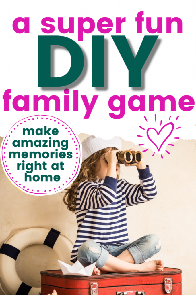 Need a DIY family game you can play at home indoors for your next family game night? You'll love this creative idea for having fun with the kids. Create some memories with the family at home when you're bored.