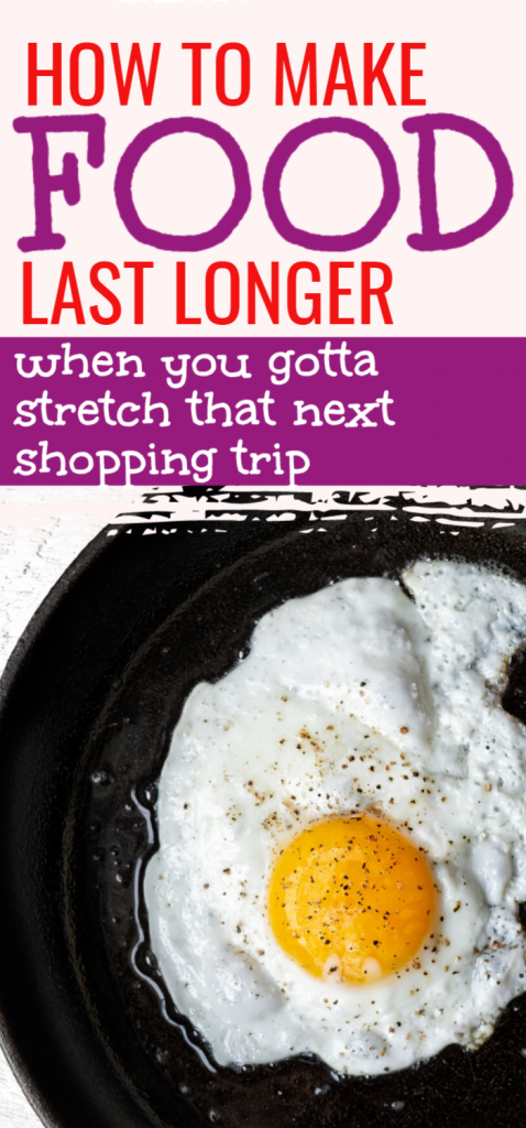 Learn how to make food last longer with these ideas to stretch your food supply at home when you want to stay at home in self isolation instead of shopping at the store. Stretch your food supply. Stretch your groceries, grocery at home