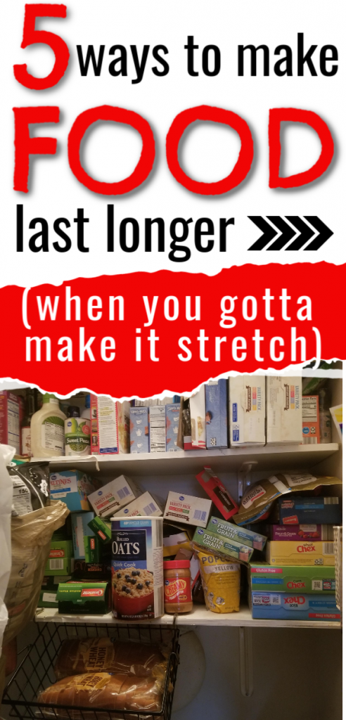 Learn ways and the how to make food last longer when you're running low on food and the stores are out of bread milk eggs and more.