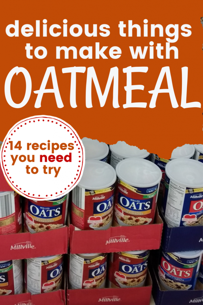 Things to make with oatmeal, oatmeal recipes to try, healthy delicious oatmeal recipes, things to do with oats, ways to use up oatmeal or quick oats or old fashioned oats
