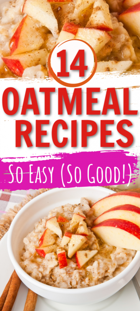Want easy oatmeal recipes to use up some of those oats you have on hand? These simple ingredients make breakfast for kids simple and delicious. Lots of healthy ways to use up oatmeal. Quick oats or old fashioned oats work well in these recipes.