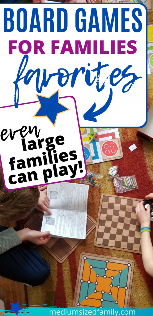 Family board games make family game night with kids more fun than ever. These are the best fun games you can play with children or teens with games that 5 or more players can play together. Your big family will love these board games and card games for quality time together.