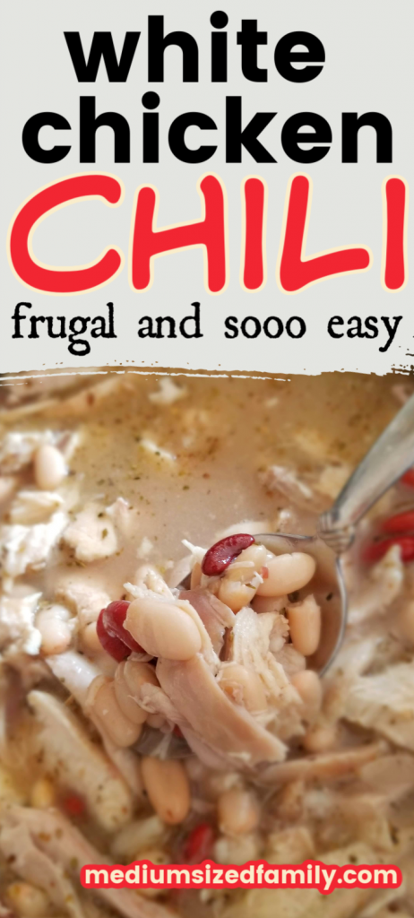 This easy white chicken chili recipe is the perfect comfort food. a healthy crock pot recipe that you can also make on the stove top.
