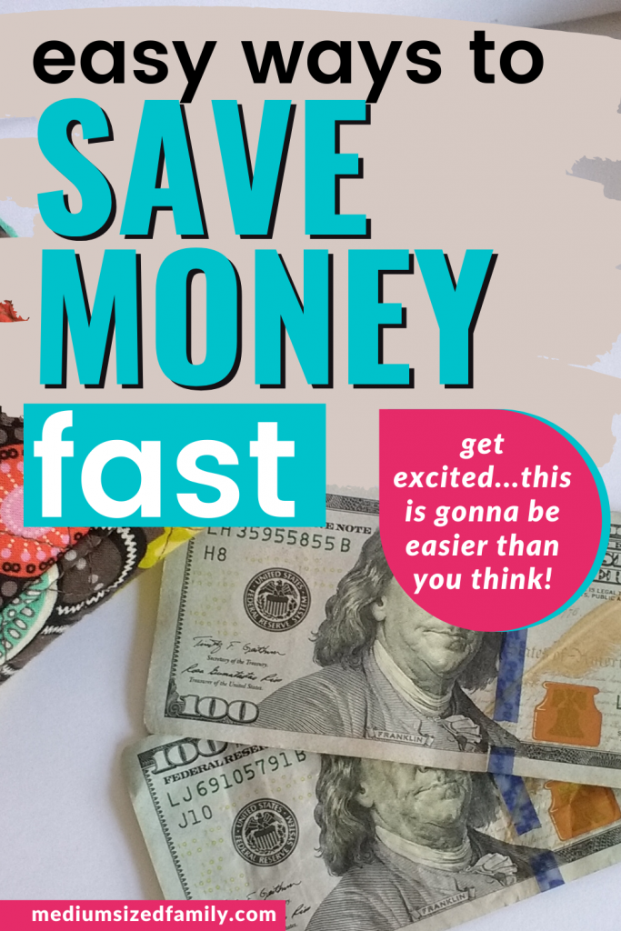 You'll save money fast with these unique ideas for saving money. How to save money fast. Easy ways to save money fast. Best way to save money fast. #savemoneyfast