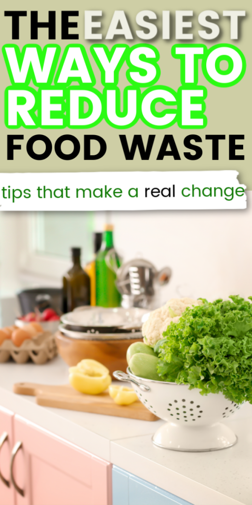 These simple ways to reduce food waste at home will help you save money on groceries. Throw away less food with these tips for using up the food you have. How to reduce food waste at home. Good ideas and recipes so you can waste less food. #reducefoodwaste