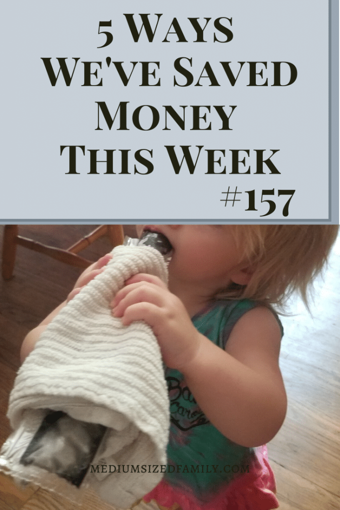 Money saving tips from the 5 ways we've saved money this week series