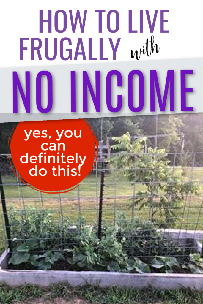 How to live frugally with no income. Living with no income. how to live on no money. How to live on nothing. Ways to get by when you have no income. Ways to live when you have no money.