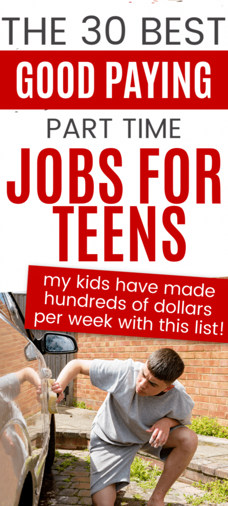 This list of good paying part time jobs for teens and teenagers is a great way for teens to make money. Ideas for teenagers to make money. Ways kids 14-16 can make some extra money or extra cash.