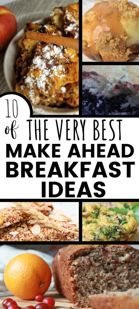 The best make ahead breakfast ideas and recipes for busy mornings. Kids love them!