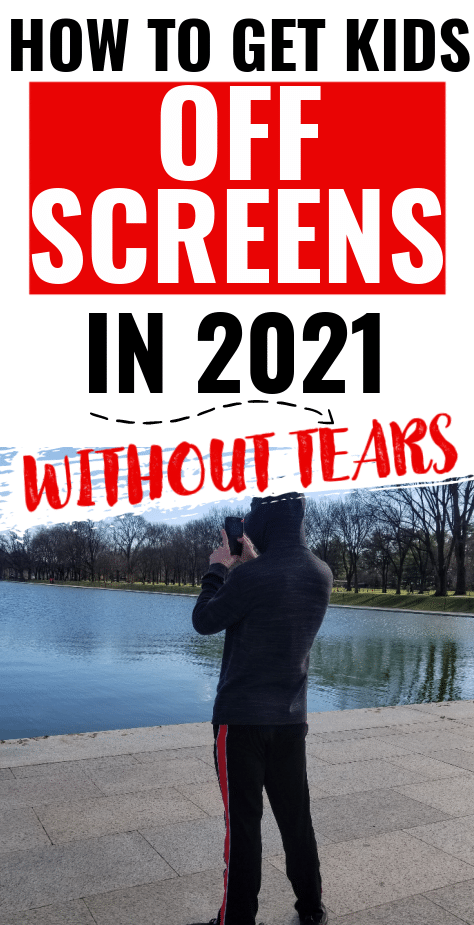 How to get kids off screens in 2021. Ways to get kids to stop staring at screens. Ways to lessen screen time for kids. How to get your kids to stop playing video games all the time.