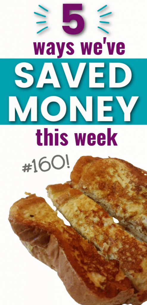 Simple ways we've saved money this week, live a more frugal life.
