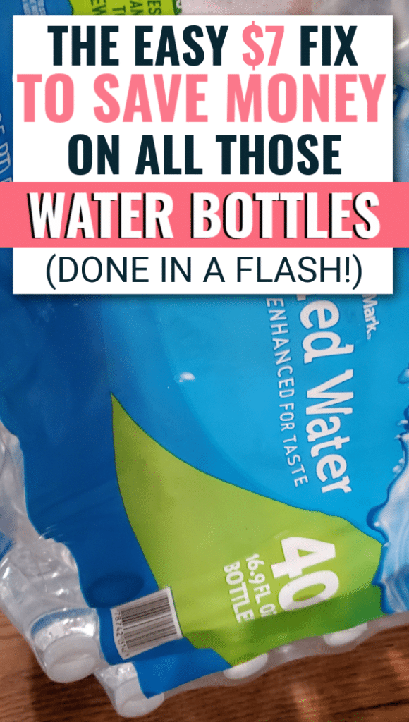 This awesome money saving tip will help you stop buying all those water bottles you constantly find open but almost full. Frugal ways to save on drinks. Easy things to do to save money. #moneysaving